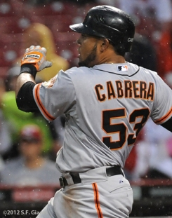 S.F. Giants, San Francisco Giants, Photo, 2012, Mekly Cabrera