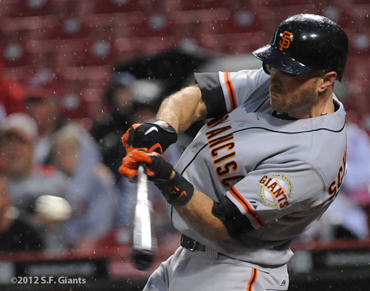 Nate Schierholtz, S.F. Giants, San Francisco Giants, photo, 2012