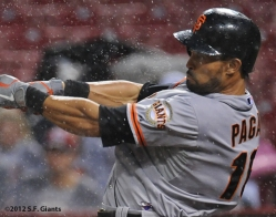Angel Pagan, S.F. Giants, San Francisco Giants, Photo, 2012