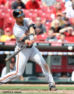 S.F. Giants, San Francisco Giants, 2012, Photo, Angel Pagan