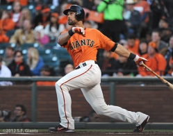 S.F. Giants, Angel Pagan, 2012, photo, San Francisco Giants
