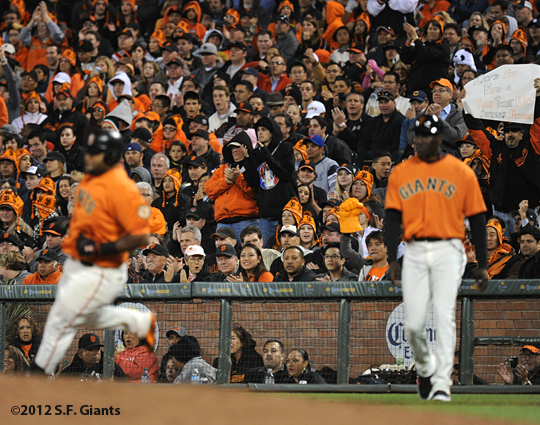 S.F. Giants, San Francisco Giants, 2012, photo, fans