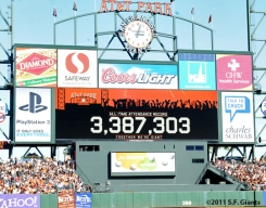S.F. Giants, San Francisco Giants, 2011, AT&T Park, Photo