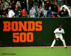 S.F. Giants, San Francisco Giants, 2001, Photo, Barry Bonds, 500