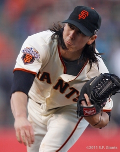 Tim Lincecum, 2011, photo, S.F. Giants, San Francisco Giants