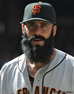 Brian Wilson, S.F. Giants, San Francisco Giants, 2012, photo