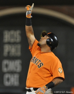 hector sanchez, sf giants, san francisco giants, 2012, photo