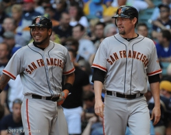 aubrey huff, sf giants, san francisco giants, photo, 2012