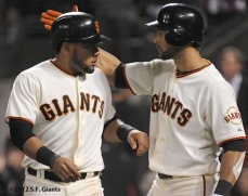 sf giants, san francisco, 2012, photo, angel pagan, melky cabrera