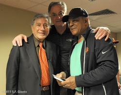 sf giants, san francisco, willie mays, tony bennett, mike murphy, 2011, photo