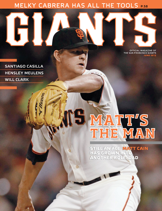 sf giants magazine, matt cain, 2012, june