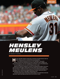 sf giants magazine, june, 2012, bambam meulens