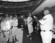 ny giants, san francisco giants, sf giants, turn back the clock, turn back the century, 2012, 1912, photo, Will Clark