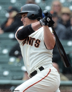 ryan theriot, sf giants, san francisco giants, photo, 2012