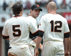 sf giants, san francisco giants, photo, 2012, brandon belt, ryan theriot, nate schierholtz