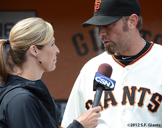 sf giants, san francisco giants, photo, birthday, 2012, jeremy affeldt, amy Gutierrez