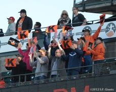 fans, tim lincecum, timmy's giatnts, sf giants, san francisco giants, photo, 2012