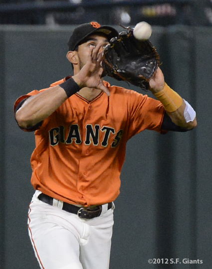 angel pagan, sf giants, san francisco giants, photo, 2012