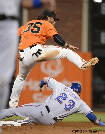 Brndon crawford, sf giants, san francisco giants, photo, 2012
