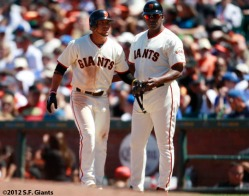 San Francisco Giants, S.F. Giants, photo, 2012, Gregor Blanco