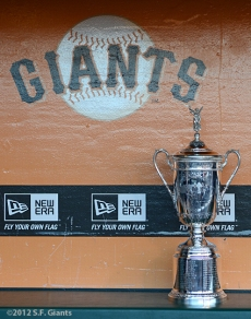 sf giants, san francisco giants, photo, 2012, us open trophy