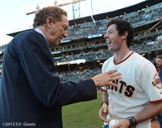 sf giants, san francisco giants, photo, 2012, rory mcilroy, larry baer