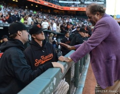 sf giants, san francisco giants, photo, 2012, ryan vogelsong, chris berman, matt cain,