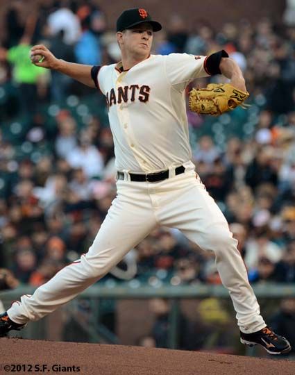 sf giants, san francisco giants, matt cain, perfect game, 2012, June 13, AT&T Park