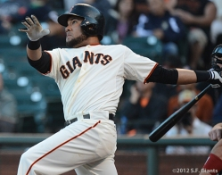 melky cabrera, sf giants, san francisco giants, photo, 2012