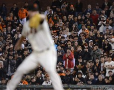 sf giants, san francisco giants, matt cain, perfect game, 2012, June 13, AT&T Park, fans