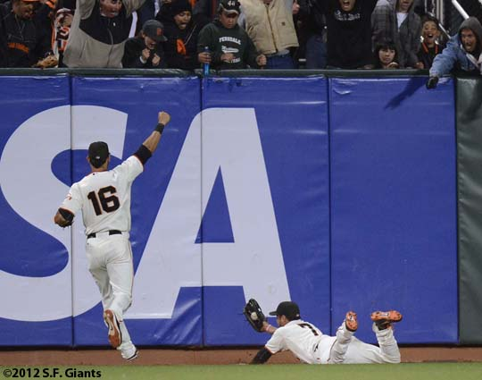 sf giants, san francisco giants, matt cain, perfect game, 2012, June 13, AT&T Park, angel pagan, gregor blanco