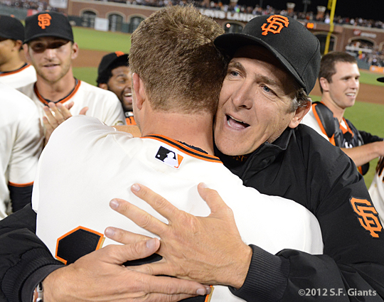 sf giants, san francisco giants, matt cain, perfect game, 2012, June 13, AT&T Park, dave righetti