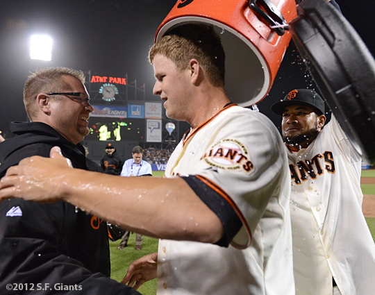 sf giants, san francisco giants, photo, 2012, matt cain, melky cabrera