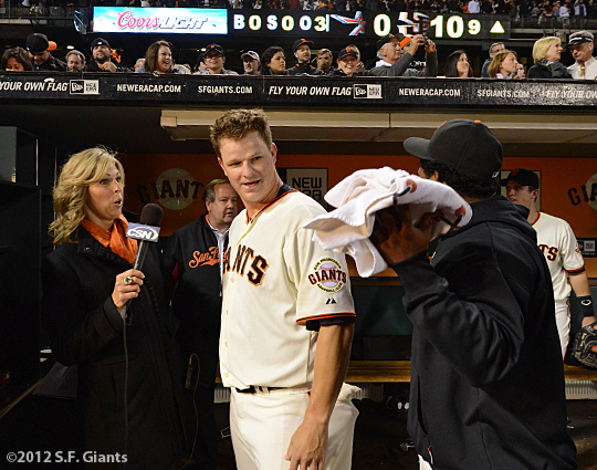 sf giants, matt cain, perfect game, june 13, 2012, san francisco giants, AT&T Park,