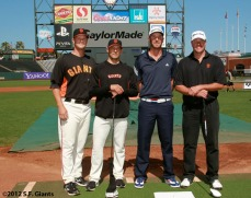 San Francisco Giants, S.F. Giants, photo, 2012, Dustin Johnson, Clay Hensley, J.T. Snow and Matt Cain