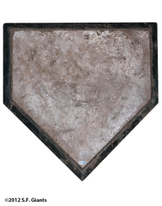 home plate, matt cain, perfect game, june 13, 2012, sf giants, san francisco giants, photo,