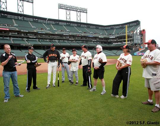 Balldude Camp at AT&T Park on June 22, 2012.