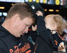 sf giants, san francisco giants, photo, 2012, matt cain, perfect game, june 13,