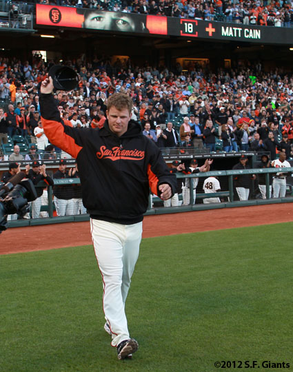sf giants, san francisco giants, photo, 2012, matt cain, perfect game, june 13, fans