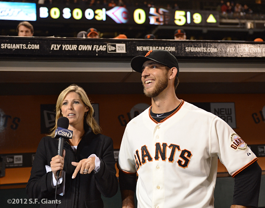 sf giants, san francisco giants, photo, 2012, madison bumgarner, amy g