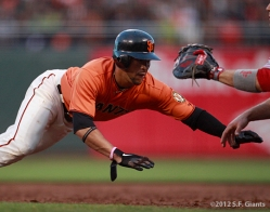 gregor blanco, sf giants, san francisco giants, photo, 2012