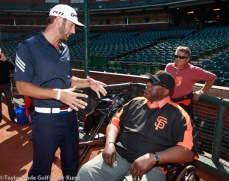 San Francisco Giants, S.F. Giants, photo, 2012, Dustin Johnson, Willie McCovey