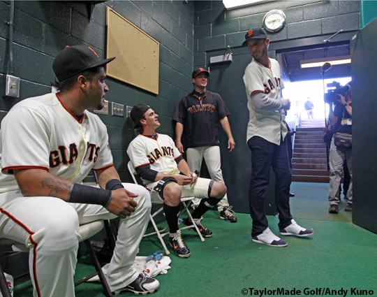 San Francisco Giants, S.F. giants, photo, 2012, Hector Sanchez, Ryan Theriot, J.T. Snow, Dustin Johnson