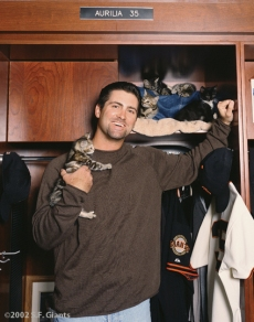 spca, sf giants, calendar, san francisco giants, photo, 2002, rich aurilia
