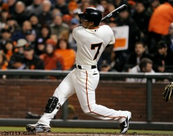 San Francisco Giants. S.F. Giants, photo, 2012, Gregor Blanco