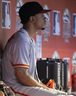 emmanuel burriss, sf giants, san francisco giants, photo, 2012