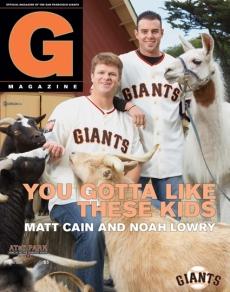 matt cain, noah lowry, zoo, giants magazine, sf giants, san francisco giants, photo, 2012