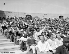 sf giants, san francisco giants, photo, 1960, opening day, candlestick park, fans