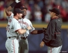 2002 NLDS, sf giants, san francisco giants, photo, barry bonds, rich aurilia, russ ortiz