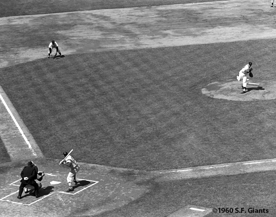 Inaugural pitch at Candlestick Park.